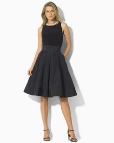 Lauren by Ralph Lauren Dress Sleeveless Dress with Flared Skirt