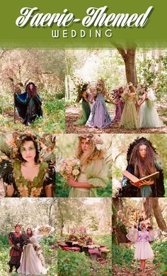 Faery themed wedding
