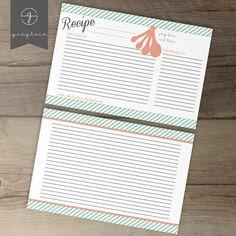 Recipe Card Printable by greylein