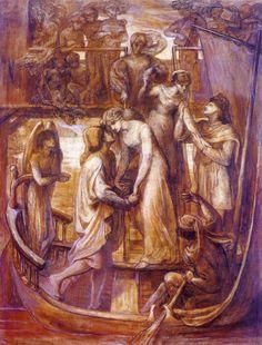 Dante Gabriel Rossetti (1828-1882), The Boat of Love - 1881