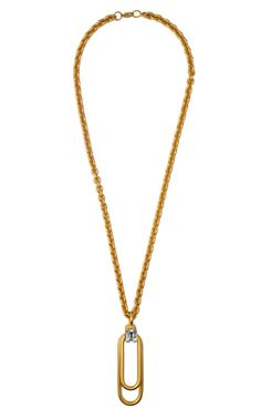 Shop Vionnet Paperclip Pendant Necklace at Moda Operandi