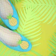 Get your shoes in on the pineapple trend!