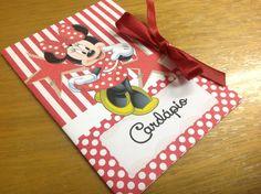 Cardápio para aniversario - Minnie Vermelha