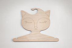 wood cloth hanger by Ptashka-decor /laser cutting