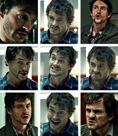 Will Graham's true faces (convinced this is a requirement of British actors: Make the greatest faces...)