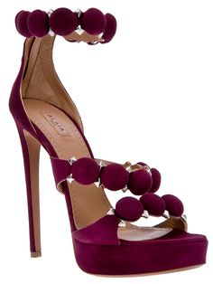 Alaïa Disc and Studded Embellished Ankle Strap Suede Sandals Spring 2013 2 didnt look but maybe same desiner as light pink shoes. ill take a pair of these please. Stilettos, High Heels, Gq, Christian Louboutin, Zapatos Shoes, Shoes Heels, Suede Shoes, Spring Sandals, Vetement Fashion