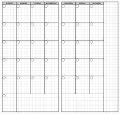 Traveler's Notebook Standard Monthly Printable