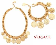 85aa4f235b Versace Medusa Coin Necklace and Bracelet