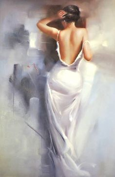 Title: Girl in whiteAuthor: Minaev Sergey VladimirovichCode: cmGalery: PaintingStyle: ImpressionismGenre: AmourTechnique: OilMaterial: Canvas Indian Art Paintings, Modern Art Paintings, Cool Paintings, Woman Painting, Figure Painting, Victorian Paintings, Fantasy Art Women, Foto Art, Classical Art