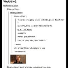WHOVIANS CONFUSING PEOPLE