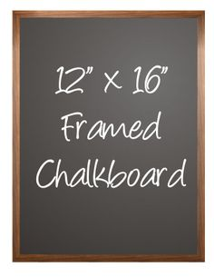 "12""x 16"" Hand Stained Wood Framed Chalkboard on Sale-$40"