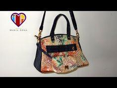 Bolsa em tecidos Flora - Maria Adna Ateliê - Aula de bolsa em tecidos - Bolsas de tecidos - YouTube