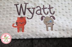 Personalized Minkee Baby Blankets at www.sun7designs.com