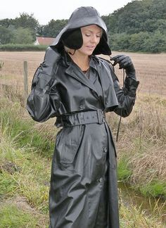 wearing raincoat rubber and Fucked bound