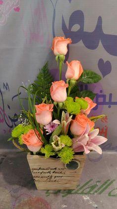 Valentine Flower Arrangements, Flower Arrangement Designs, Unique Flower Arrangements, Flower Designs, Deco Floral, Arte Floral, Flower Garland Wedding, Flower Boxes, Ikebana