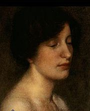 Description Portrait of the artist Colin Campbell Cooper's wife. Oil on canvas. Memorial Art Gallery, Rochester, New York. -Date Painted approximately 1897 -Author Colin Campbell Cooper Woman Painting, Figure Painting, Colin Cooper, Memorial Art Gallery, American Impressionism, Lifelong Friends, Modern Artists, American Artists, Back Home