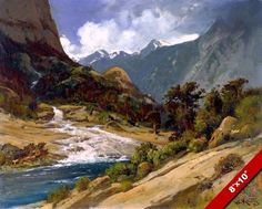 HETCH HETCHY TUOLUMNE RIVER CANYON CALIFORNIA PAINTING ART REAL CANVAS PRINT #Realism