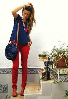 Rojo y azul