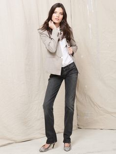 Crystal Studded Straight Leg Jean by 7 for All Mankind on Gilt.com