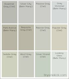 Combinations of grey and beige, greige colors