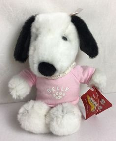 "Daisy Hill Puppies Belle Plush Dog 11"" Stuffed Animal Peanuts Girl Snoopy 