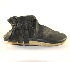 Soft Leather Baby Shoes Moccasins Eco Friendly 12 to by KaBoogie, $30.00