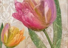 Tulip Greeting Card featuring the painting Tulip Tempest II by Mindy Sommers