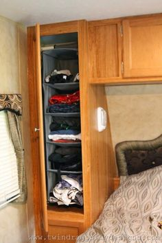 Great tips for organizing the travel trailer!