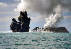 Volcano deep beneath the ocean near the Pacific island Tongatapu