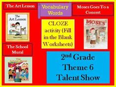 Cloze Worksheets for Houghton Mifflin Harcourt Second Grade Vocabulary Theme 6
