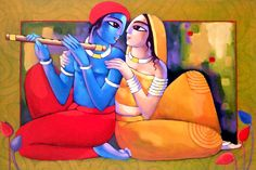 Art Painting - Romantic Couple by Sekhar Roy