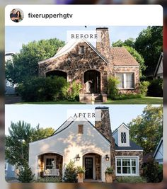 Home Remodel Before And After Exterior Makeover Fixer Upper 27 Ideas Home Exterior Makeover, Exterior Remodel, Fixer Upper Dekoration, Home Renovation, Home Remodeling, Basement Renovations, Joanna Gaines Decor, House Makeovers, Fixer Upper Decor