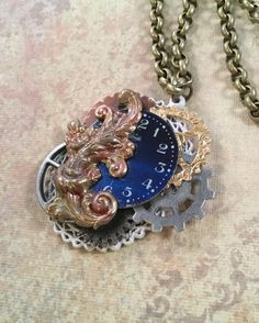 A personal favorite from my Etsy shop https://www.etsy.com/listing/473695146/steampunk-necklace-watch-face-necklace