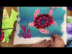 Quick and Easy Art: Concentric Circle Turtles - YouTube
