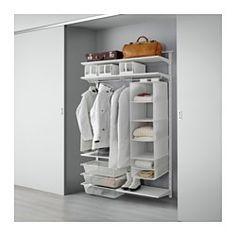 Delene i ALGOT serien kan kombineres på mange forskellige måder og kan derfor nemt tilpasses til dine behov og dit rum. Hyldeknægtene klikkes fast på ALGOT vægstolperne de steder, hvor du vil ha' en hylde eller tilbehør - kræver ikke værktøj. Kan også bruges i badeværelser og i andre vådrum indendørs.