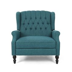 House of Hampton Mattice Tufted Fabric Manual Recliner Upholstery Colour: Teal Lane Furniture, Furniture Styles, Recliner With Ottoman, Wall Hugger Recliners, Power Recliners, Sit Back And Relax, Oversized Chair, Love Seat, Armchair