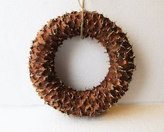 Natural Fir Cone Shingles Wreath Fir Shingles Brown Wreaths Pinecone Scales Spruce Decoration Handmade Gift Decor Holiday Christmas Autumn