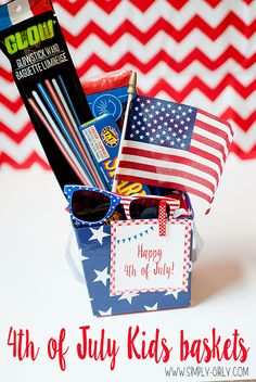 Simply Girly: Happy 4th of July Baskets for the Kids- FREE PRINTABLE