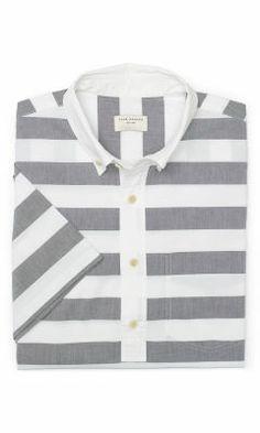 Short Sleeve Stripe Popover