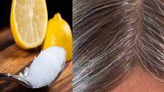 Mezcla de aceite de coco y limón: transforma el cabello gris en su natural . - Aceite de coco y mezcla de limón: transforma las canas de nuevo a su color natural. Prevent Grey Hair, Stop Grey Hair, Healthy Hair Growth, Hair Remedies, Tips Belleza, Hair Loss, Dyed Hair, Coconut Oil, Lemon Coconut