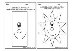 Caderno de Atividades Formas e Cores   para a Educação Infantil   grátis para você imprimir!     Clique nas imagens para ampliá-las   antes...