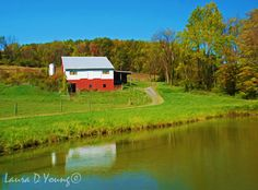 Pennsylvania Print Rustic Barn Art Red Barn and by FineArtography