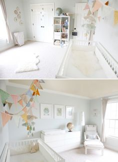 Vintage Gender Neutral Nursery by Christine of Simply Bloom Photography via lilblueboo.com
