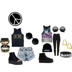Punk Rock Hippie, created by iceydinero on Polyvore