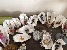 Handmade Earrings, presented in a Shell