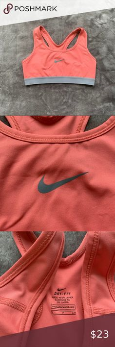 Nike pro sports bra Gorgeous DRI - FIT Peach Nike pro sports bra. Good condition. Used. Nike Intimates & Sleepwear Sports Bras Orange Grey, Orange Color, Nike Pros Sports Bras, Plus Fashion, Fashion Tips, Fashion Design, Fashion Trends, Nike Pro Shorts, Nike Women