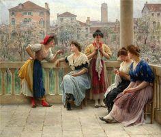 Por Amor al Arte: Eugenio de Blaas, pintor de retratos y románticas escenas de balcón.