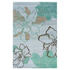 Found it at Wayfair - Milan Turquoise Rug; 8x10 on sale at wayfair for $200