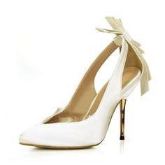 Zapatos Zapatos de novia Salón Cerrados Tacones Tacón stilettos Satén