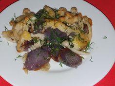 Lulu - Povesti din Bucatarie: Ciuperci si cartofi mov la cuptor Meat, Chicken, Food, Essen, Meals, Yemek, Eten, Cubs